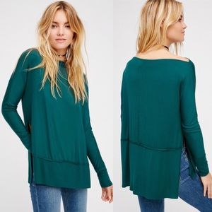 NEW Free People We The Free Luna Tee in Green